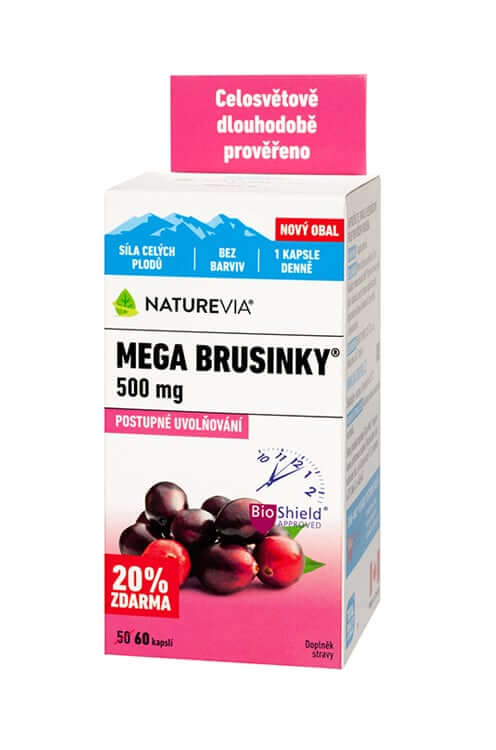 NATUREVIA MEGA BRUSNICE 500mg / 50 + 10 cps