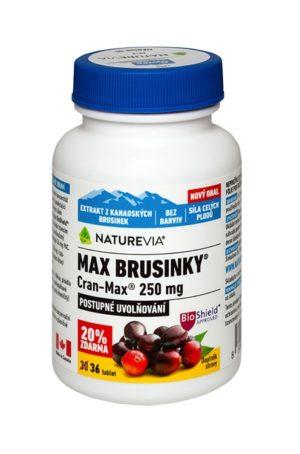 NATUREVIA MAX BRUSNICE 250mg - Cran–Max ® / 30+6 tbl
