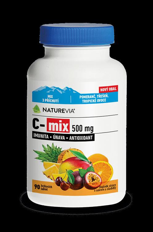 NATUREVIA VITAMÍN C-mix - cmúľacie pastilky 500 mg