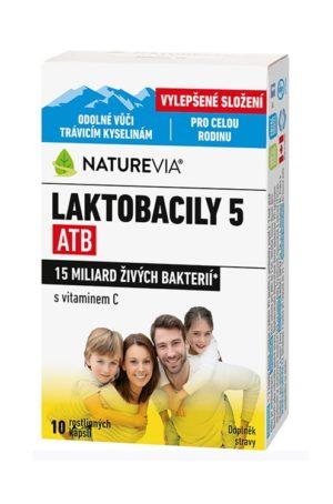 NATUREVIA LAKTOBACILY 5 Imunita/ATB s vitamínom C