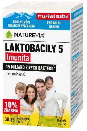 "NATUREVIA LAKTOBACILY ""5"" Imunita s vitamínom C (30+3 cps)"